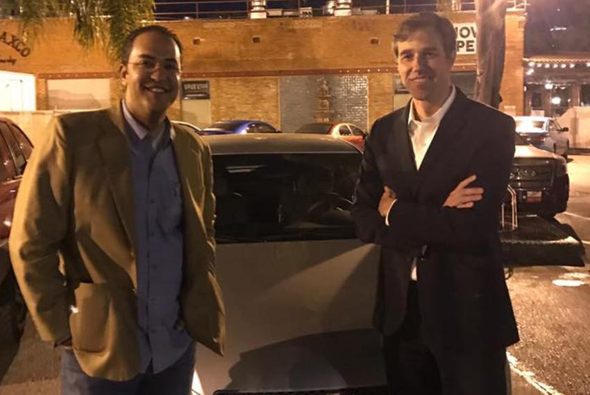 U.S. Rep. Will Hurd, R-Helotes, and Beto O'Rourke, D-El Paso, drove across the country when an east coast snowstorm scramb...