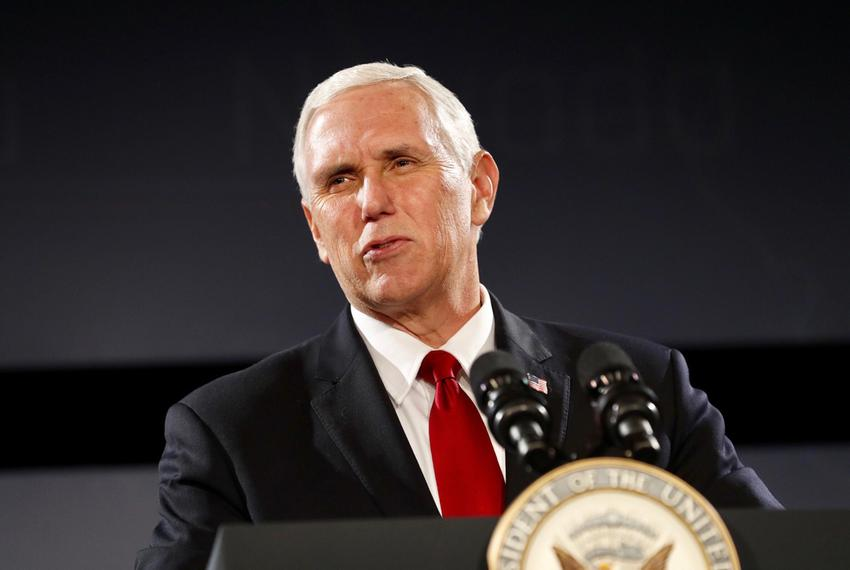 Vice President MikePence addresses the Republican Governors Association at a meeting in Austin on Wednesday, Nov. 15, 2017.