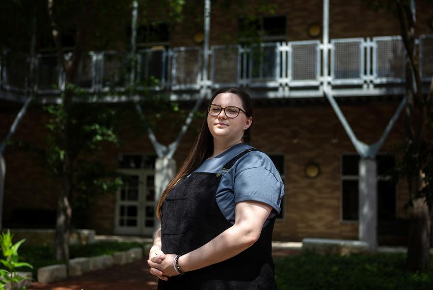 As a result from the COVID-19 pandemic, Stevani Flahaut, a second-year Austin Community College student pursuing an entrepre…