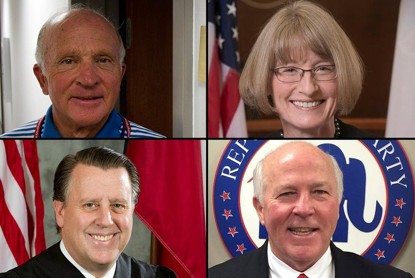"Democrat Lawrence ""Larry"" Meyers (top left) will face the winner of the Republican primary for Court of Criminal Appeals Pla…"
