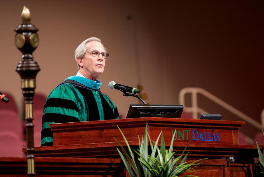 Outgoing University of North Texas System Chancellor Lee Jackson.