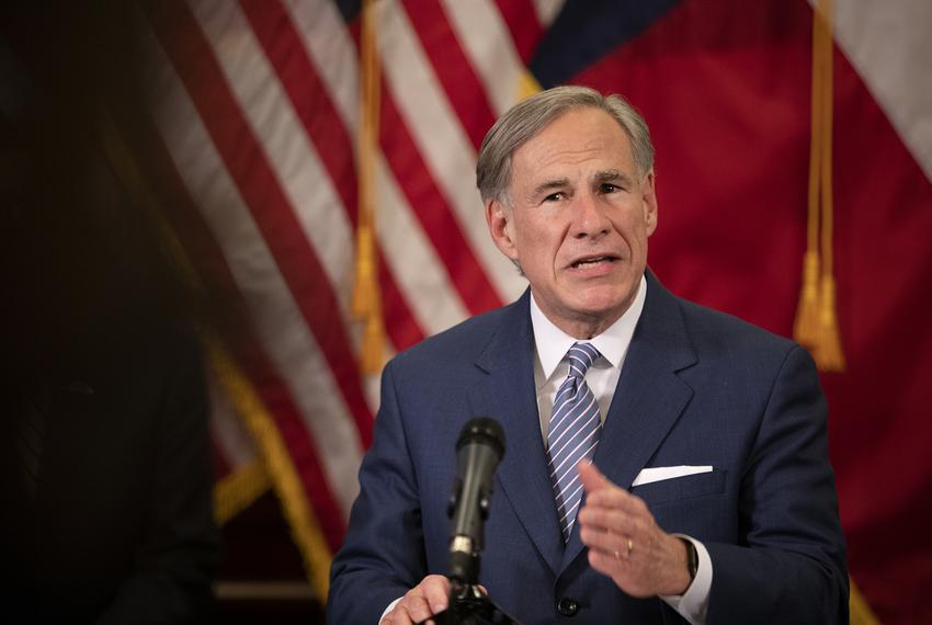 Gov. Greg Abbott announces a strike force in charge of laying steps to re-open the Texas economy at a press conference in th…