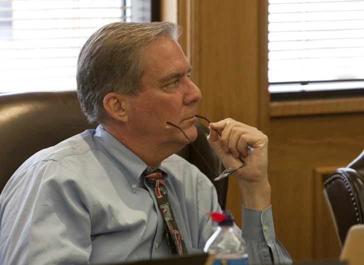 Presiding Officer of the Texas Forensic Science Commission John Bradley during a commission meeting April 14th, 2011