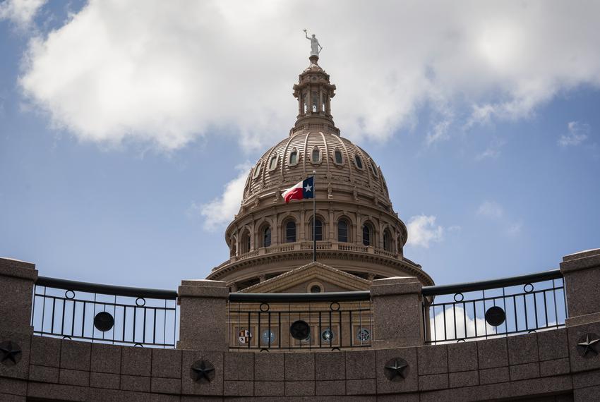 The Texas Capitol on Aug. 13, 2021.