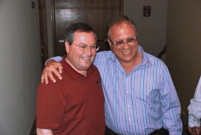 """Juaréz Mayor-elect Hector """"Teto"""" Murguía and current Mayor José Reyes Ferriz"""