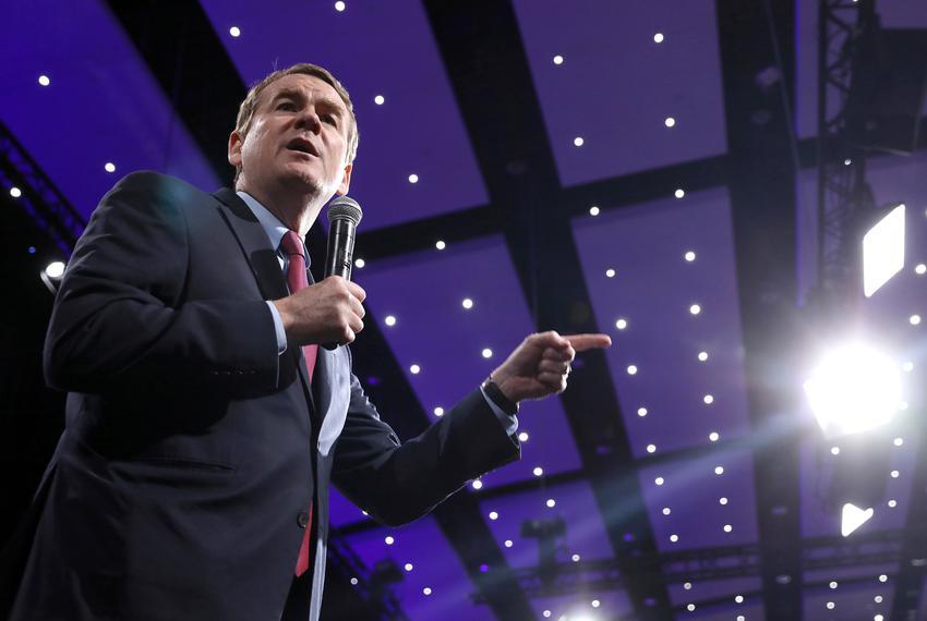 2020 Democratic presidential candidate and U.S. Senator Michael Bennet speaks during the Presidential Gun Sense Forum in D...