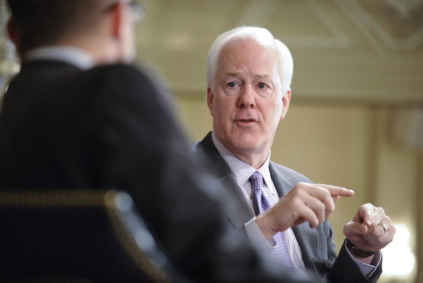 U.S. Sen. John Cornyn, R-Texas, is interviewed by Evan Smith at TribLive on April 18, 2011.
