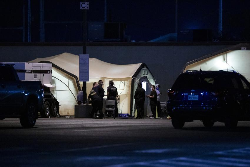New medical tents set up at University Medical Center of El Paso hospital due to the huge spike in active COVID-19 cases (11…