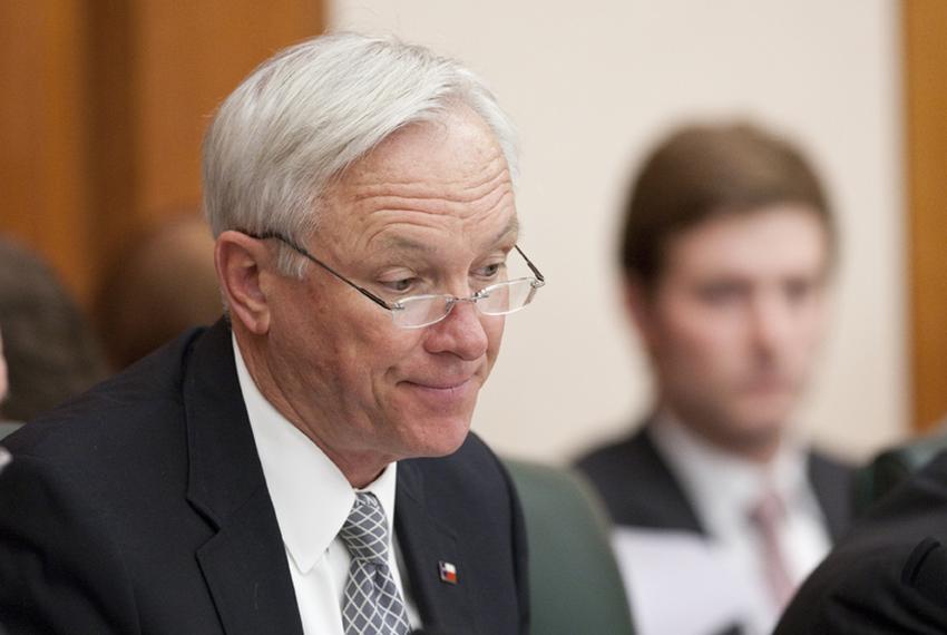 Sen. Steve Ogden R-Bryan during Senate Finance Committee hearing on April 19th, 2011