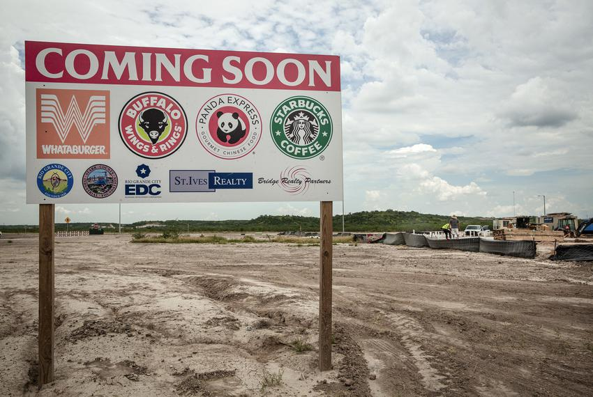 The site of a proposed development off of US Highway 83 and Pine Street in Rio Grande City. June 17, 2021.