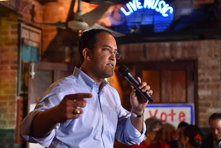 U.S. Rep. Will Hurd, R-San Antonio, speaks to supporters during a get-out-the-vote rally in San Antonio on November 7, 2016.