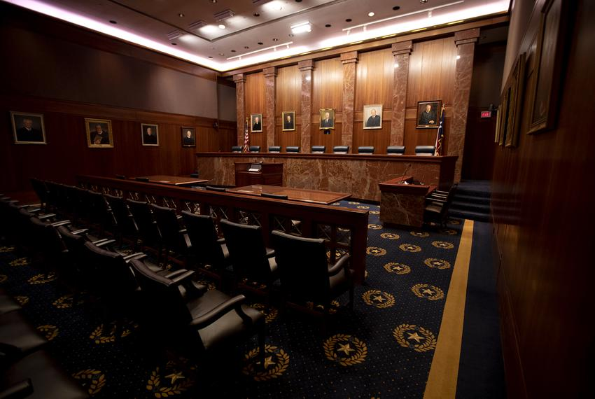 The Texas Supreme Court on Jan. 15, 2020.