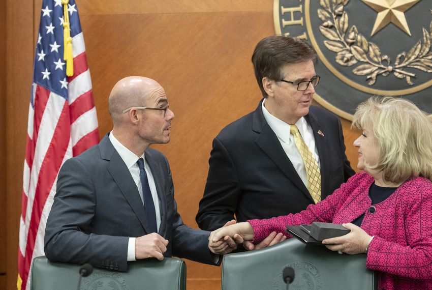 A Nov. 16, 2018, meeting of the Legislative Budget Board included then-state Rep. Dennis Bonnen, R-Angleton, Lt. Gov. Dan Patrick and Sen. Jane Nelson, R-Flower Mound.