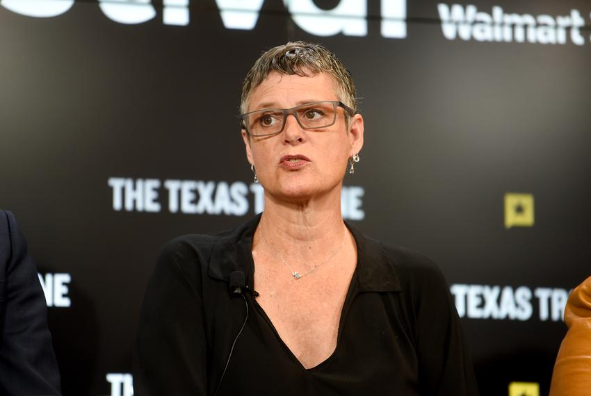 Travis County Judge Sarah Eckhardt speaks at The Texas Tribune Festival on Sept. 29, 2018.
