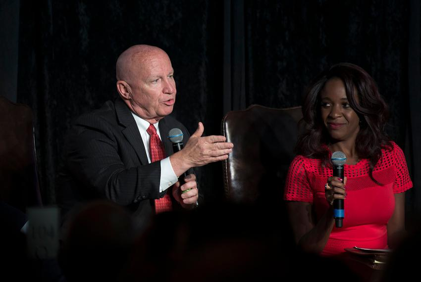 U.S. Rep. Kevin Brady, R-Texas, spoke on a panel for the Lincoln Reagan Dinner, at the Bayou City Events Center in Houston i…
