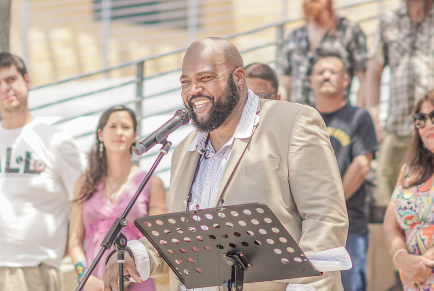 Lewis Conway Jr., a candidate running in East Austin's District 1 race, is the first formerly incarcerated person in Texas...