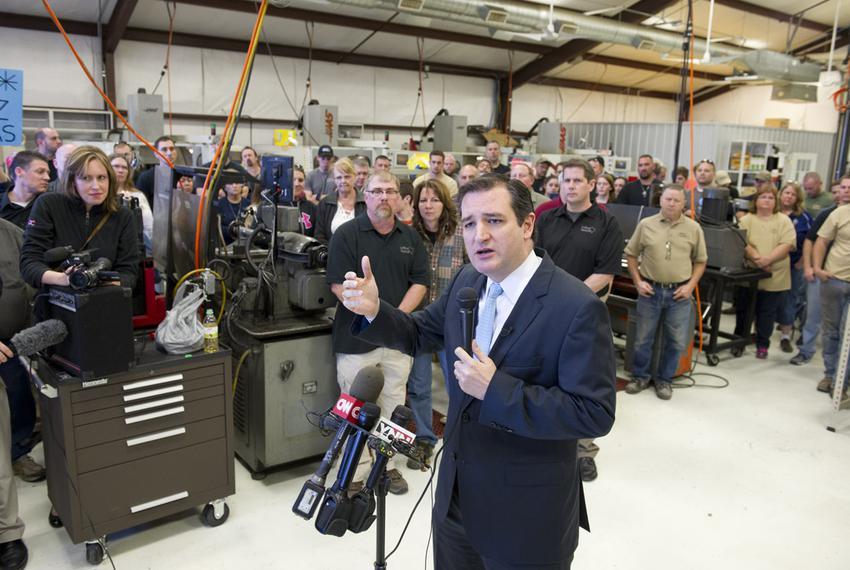 U.S. Sen. Ted Cruz speaking at LaRue Tactical in Leander on Feb. 19, 2013.
