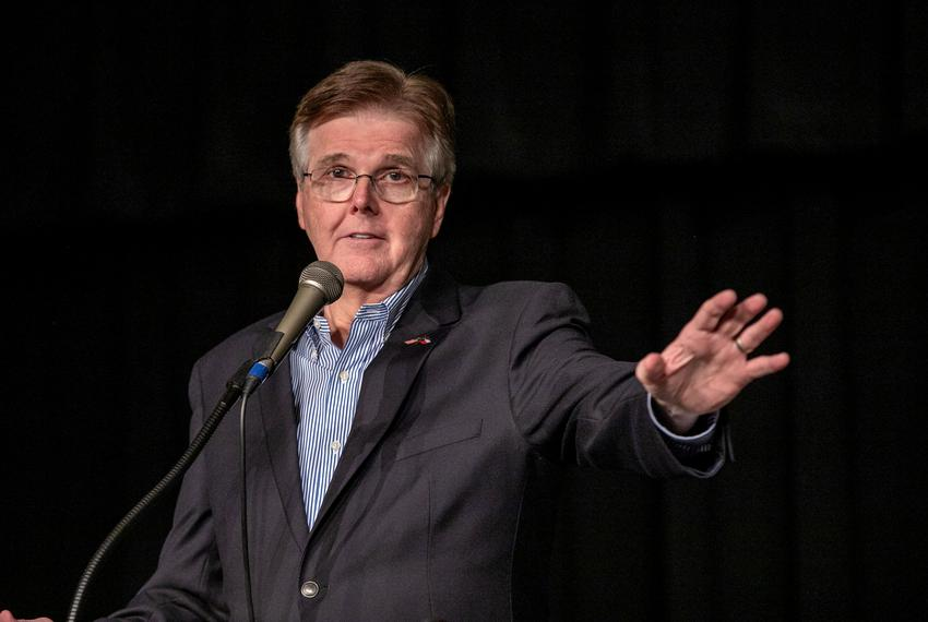 Lt. Gov. Dan Patrick spoke to Tarrant county Tea Party supporters in Grapevine for the Spread the Red event on Oct. 17, 2018.