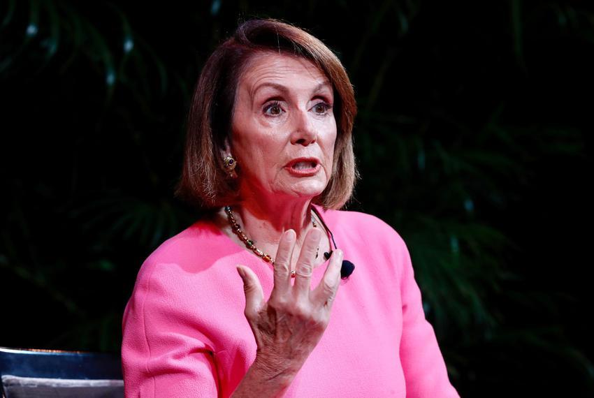 U.S. House of Representatives Minority Leader Nancy Pelosi, D-California, speaks with Alex Wagner during the Texas Tribune...