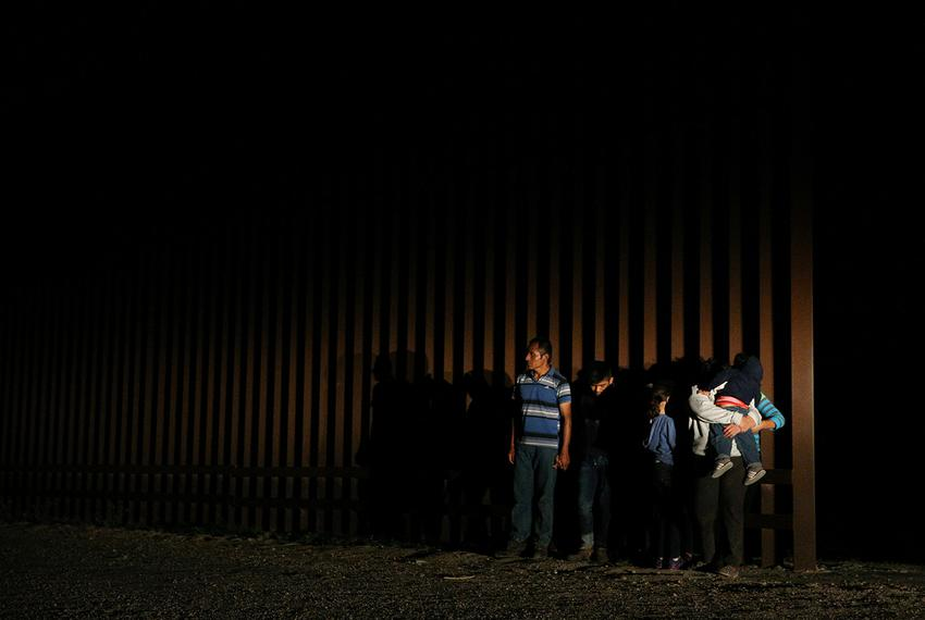 Immigrants who illegally crossed the Mexico-U.S. border are apprehended by the U.S. border patrol in the Rio Grande Valley...