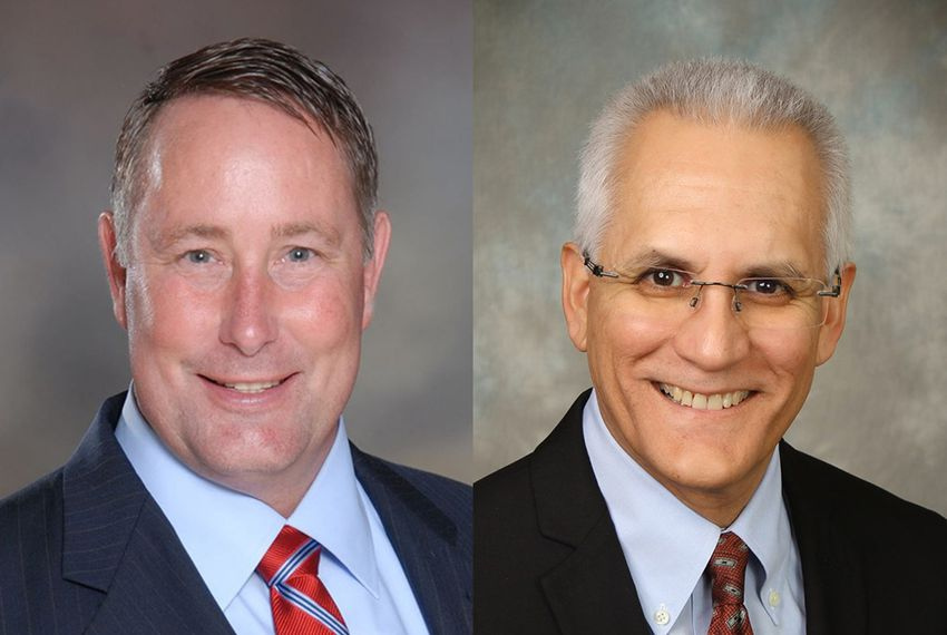 Former Killeen Mayor Scott Cosper (left) defeated optometrist Austin Ruiz in House District 54's Republican primary runoff in after a recount was completed June 16, 2016.