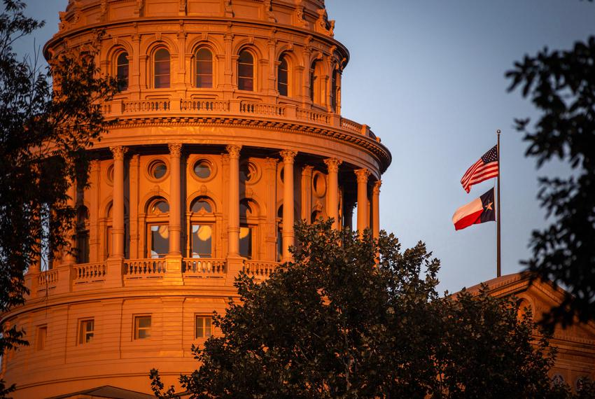 Exterior of the Texas State Capitol on Nov. 19, 2020.
