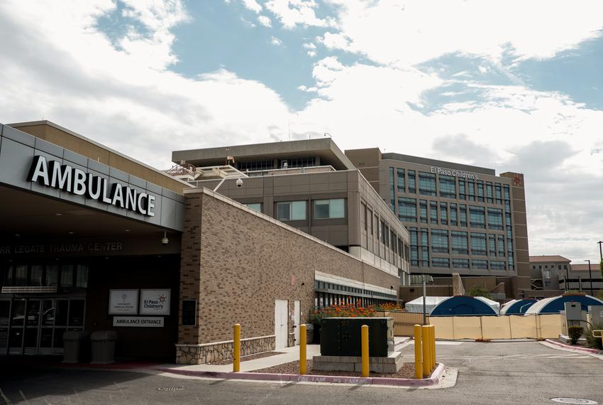 Tents are set up outside the emergency room at the University Medical Center of El Paso on July, 22, 2020.