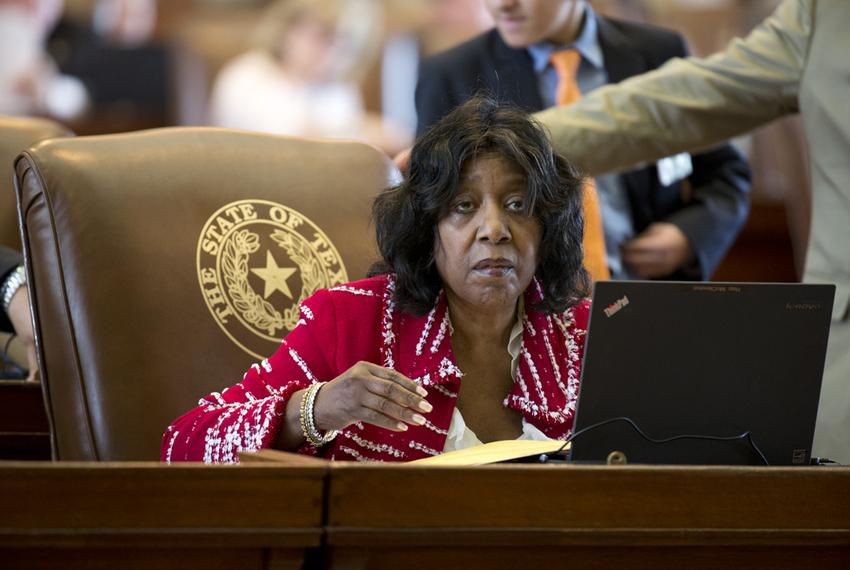 State Rep. Ruth Jones McClendon, D-San Antonio, waits to lay out House Bill 48 on May 28, 2015.  The bill, which passed an...