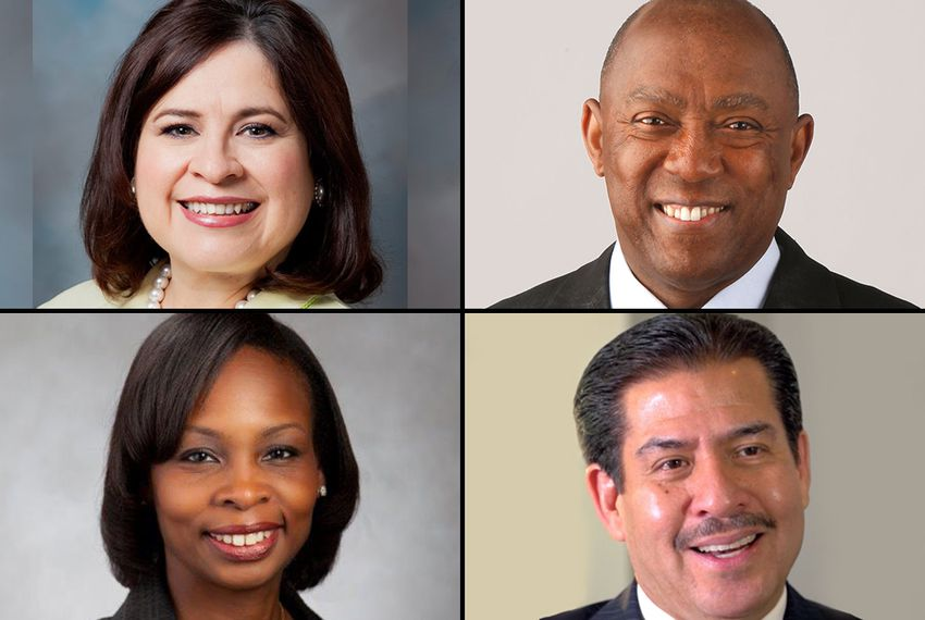 Clockwise from upper left: Former state Sen. Leticia Van de Putte, state Rep. Sylvester Turner, former Harris County Sheriff Adrian Garcia, interim San Antonio Mayor Ivy Taylor