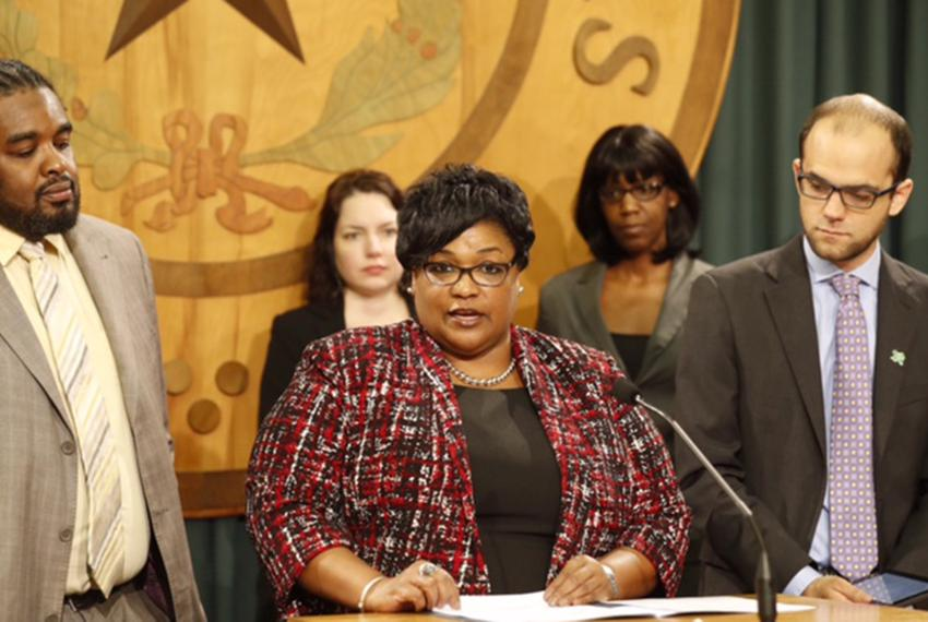 State Rep. Toni Rose, D-Dallas, announces a bill on March 7, 2017, that would make it illegal to sentence to death someone w…