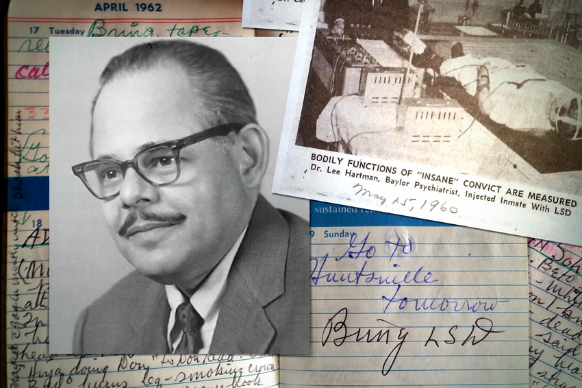 Photos, newspaper clippings and journal entries from Dr. Lee Hartman helped his grandson, Ben Hartman, piece together the details of his years as a prison physician and psychiatrist.