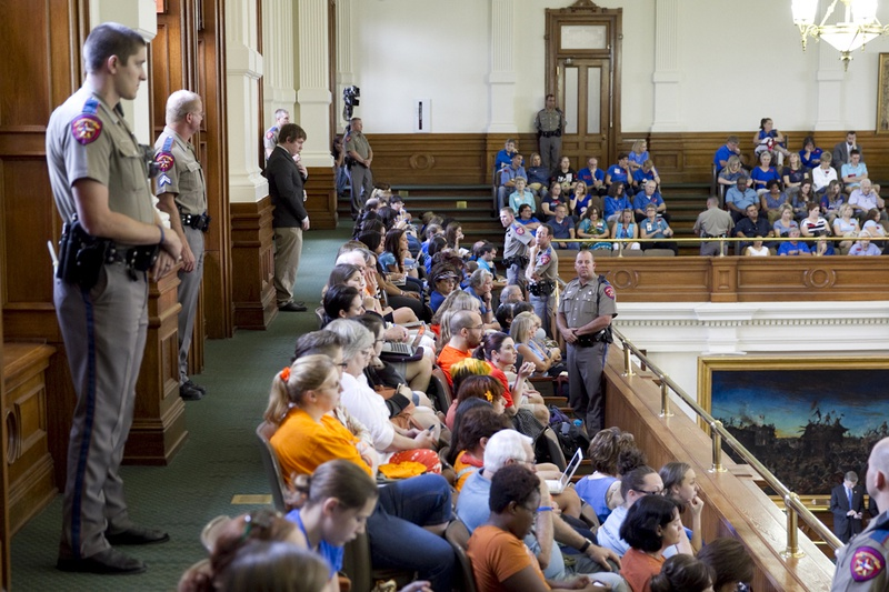 View from the Senate gallery as the chamber debates abortion legislation on July 12, 2013.
