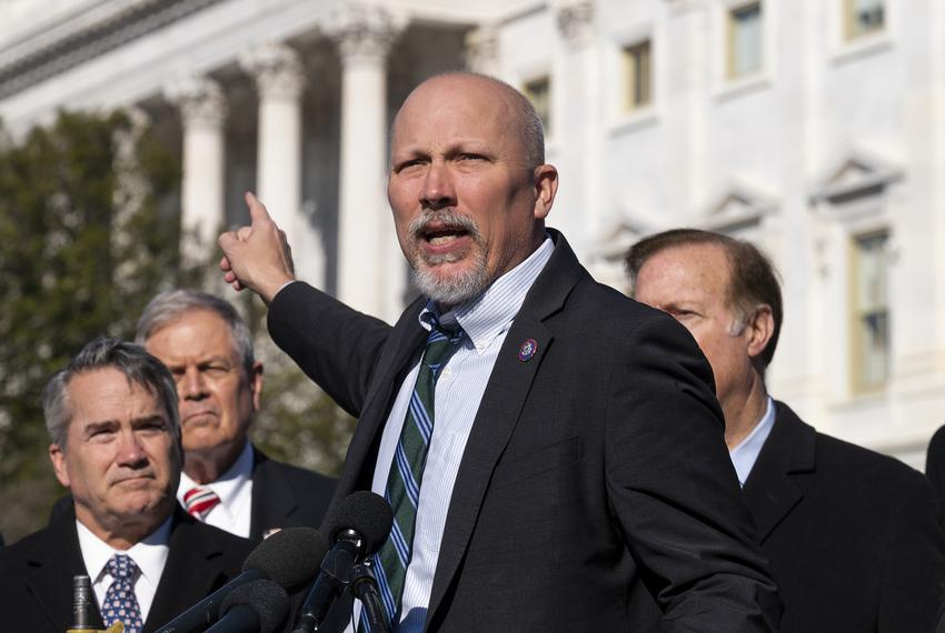 U.S. Representative Chip Roy, R-Texas, during a press conference in Washington, D.C., on Feb. 25, 2021.