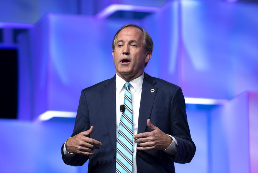 Attorney General Ken Paxton spoke to the Republican convention delegates in 2018.