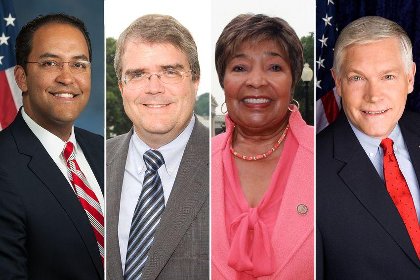 (R-L) U.S. Reps. Will Hurd, R-Helotes, John Culberson, R-Houston,Eddie Bernice Johnson, D-Dallas and Pete Sessions, R-Dallas.