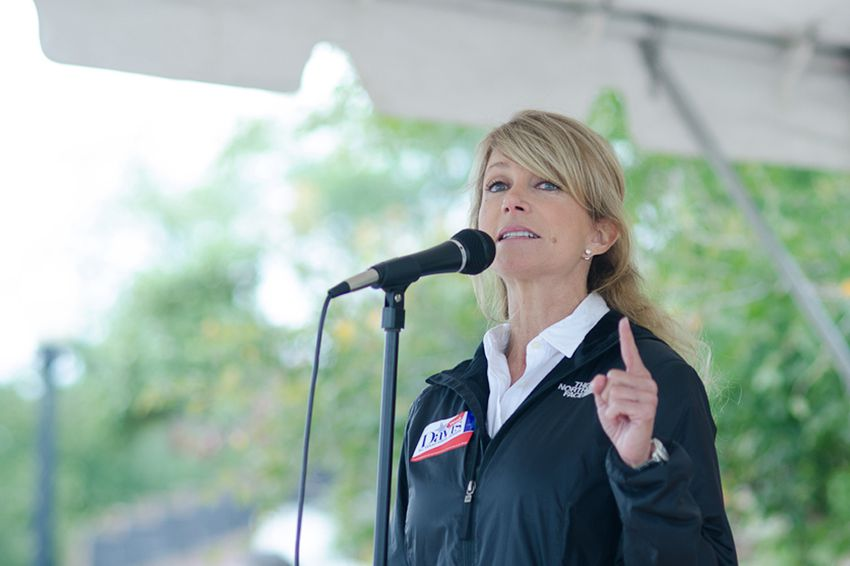 Senator Wendy Davis goes to Haranbee Festival in Fort Worth to encourage voters, after sending out her volunteers for Walk for Wendy, on October 6, 2012.