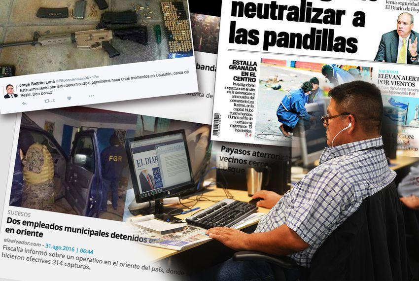 El Diario De Hoy reporter and editor Jorge Beltran in June 2016.