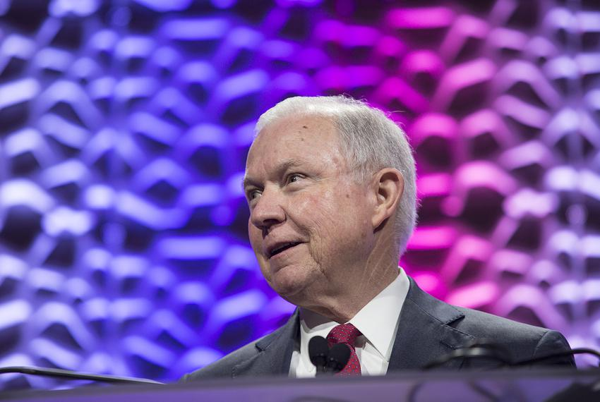 U.S. Attorney General Jeff Sessions speaks at the 30th D.A.R.E. International Training Conference in Grapevine, Texas, on ...