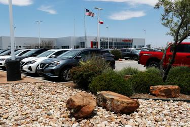 The McGavock Nissan dealership in Lubbock on May 13, 2020. While the dealership was allowed to fully reopen nearly a month ago, city enforcement officials found it violated COVID-19 safety orders several times during the early weeks of the pandemic.