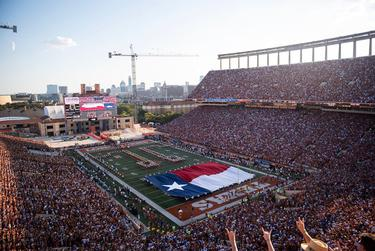 A University of Texas football game at Darrell K. Royal Memorial Stadium in Austin on Sept. 7, 2019.