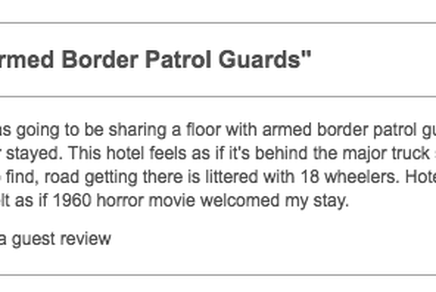 A review of the southern California hotel dated Feb. 20, 2018.