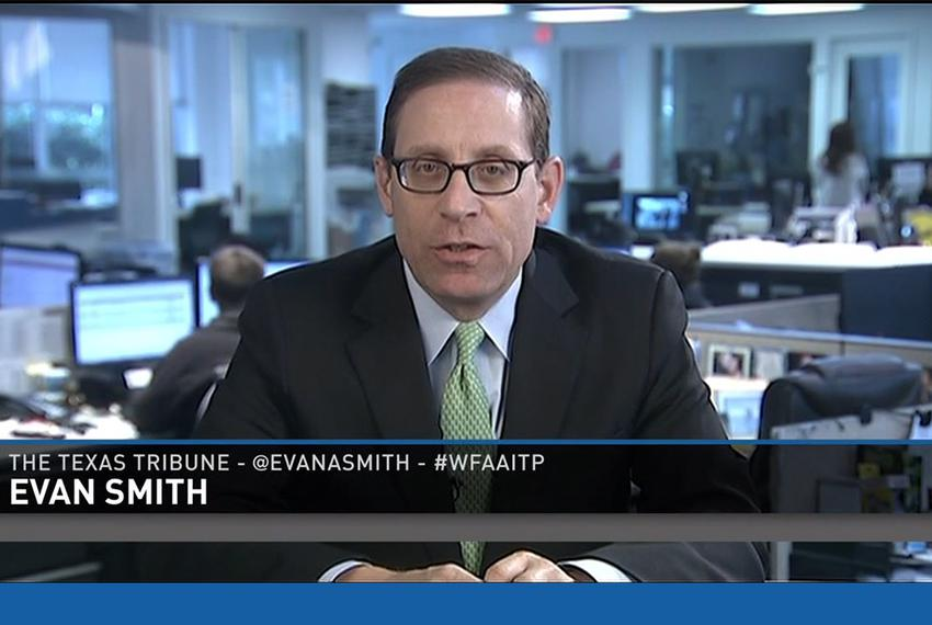 "Texas Tribune CEO and Editor-in-Chief Evan Smith on WFAA-TV's ""Inside Texas Politics"" on Nov. 16, 2014."