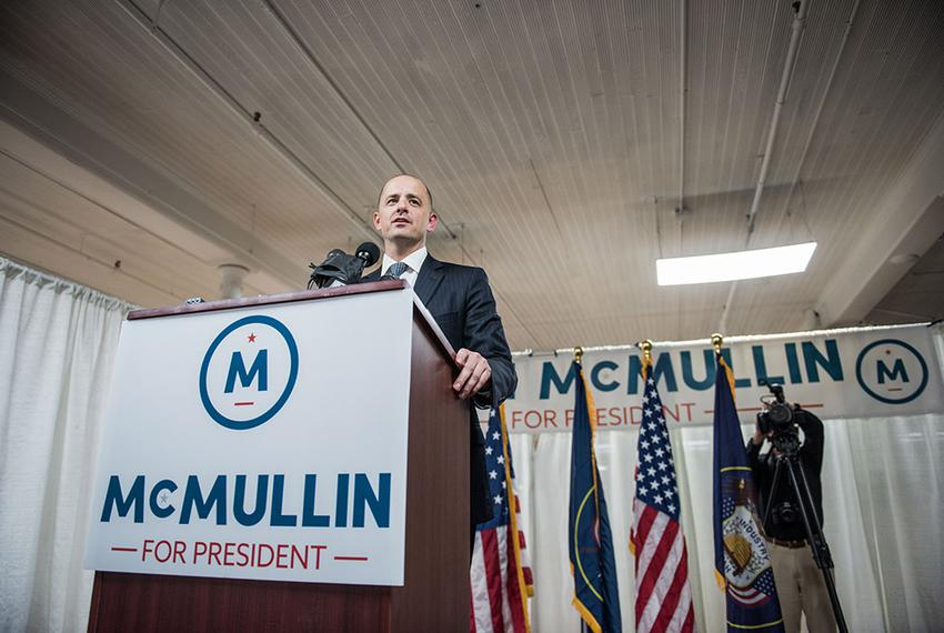 Evan McMullin is an independent candidate running for resident of the United States.
