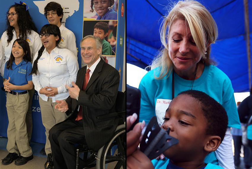 Texas Attorney General Greg Abbott and state Sen. Wendy Davis, D-Fort Worth, have both made education a central point in the…
