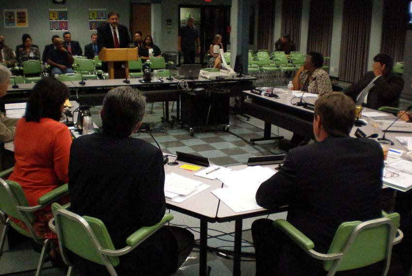 Austin Independent School District holds an open public hearing meeting