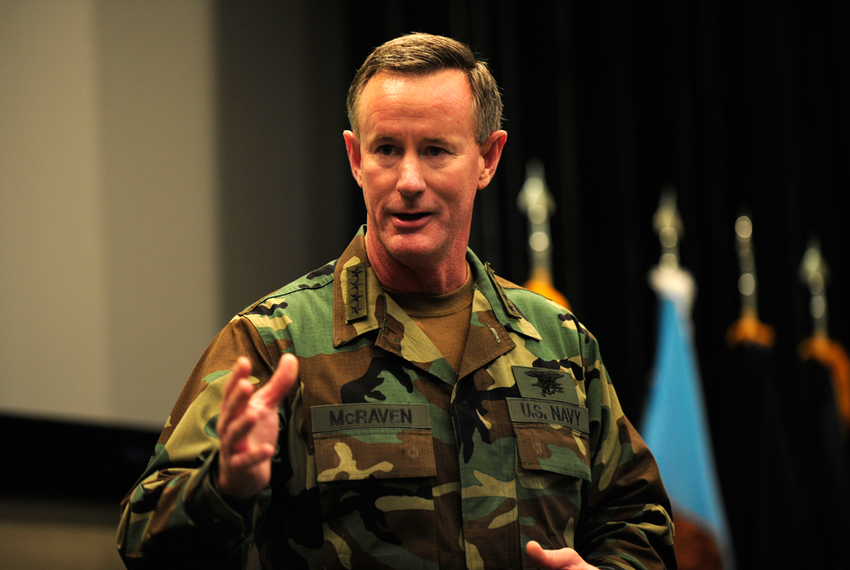 Admiral William H. McRaven, commander of U.S. Special Operations Command, was named the sole finalist to be chancellor of the University of Texas System on July 29, 2014. McRaven holds a bachelor's degree from the University of Texas at Austin.