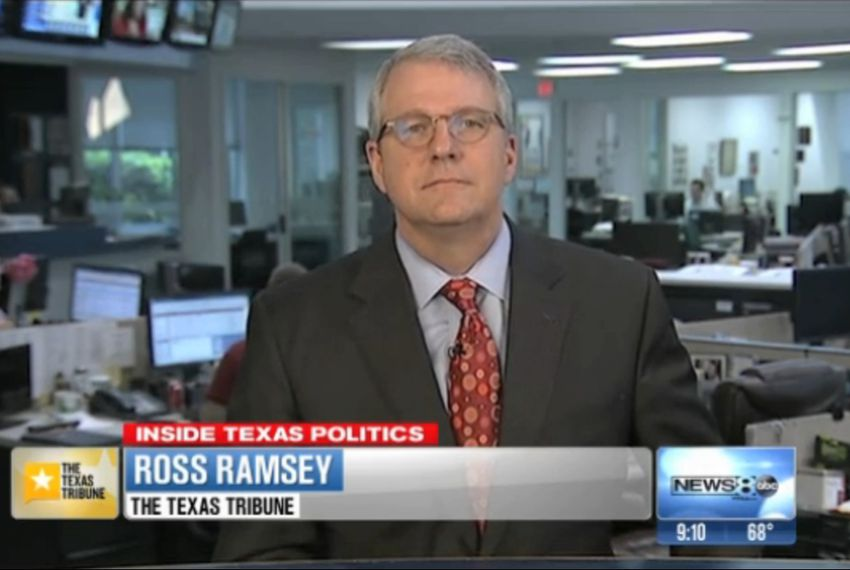 "Texas Tribune Executive Editor Ross Ramsey on WFAA-TV's ""Inside Texas Politics"" on April 20, 2014."