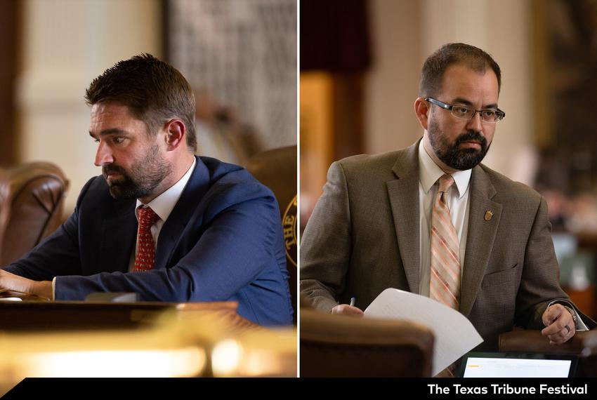 State Reps. Jeff Leach, R-Plano, and Joe Moody, D-El Paso.