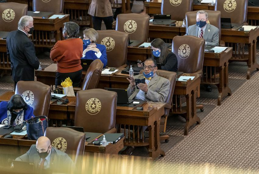 State Rep. Joe Deshotel, D-Beaumont, on the House floor on Jan. 14, 2020.