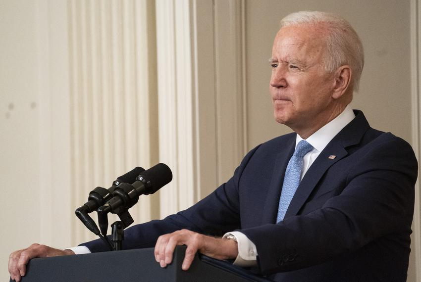 President Joe Biden addresses the nation following the end of the American mission to Afghanistan on Aug. 31, 2021.